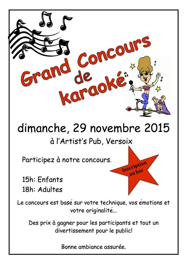 poster - karaoke comp 2015